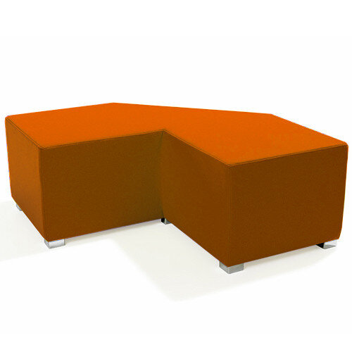 Link Tangent Right Angle Bench Orange - Fully Upholstered in Durable Fabric, Part of LINK Modular Soft Seating Range