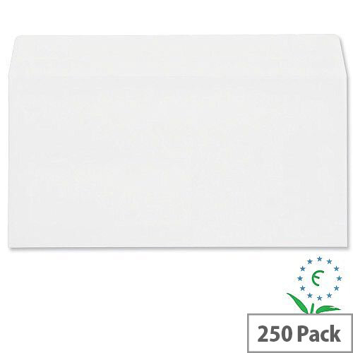 Plus Fabric White DL Envelopes Self Seal Wallet 110gsm Pack of 250
