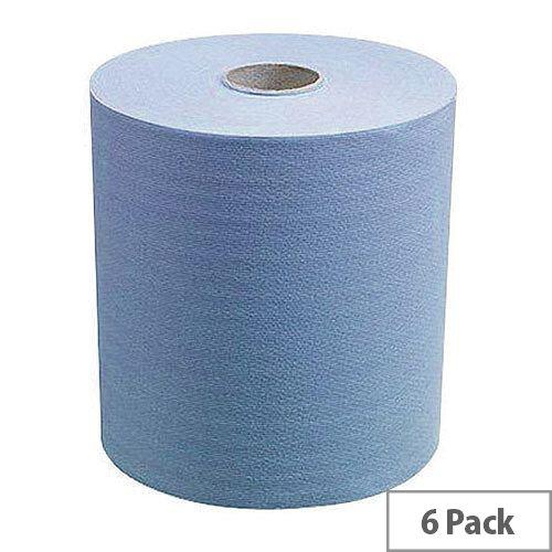 Kimberly Clark Scott Slimroll Paper Hand Towel Roll Blue 165m Long (6 Rolls) 6658