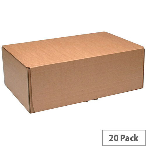 Fsmisc Mailing Boxes 395x255x140mm Brown Pack of 20