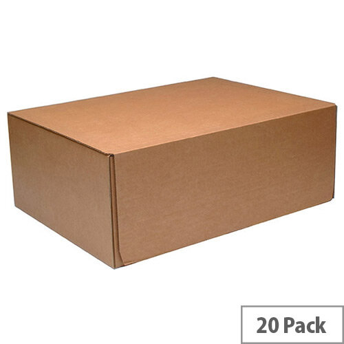 Mailing Cardboard Boxes 460x340x175mm Brown Pack of 20