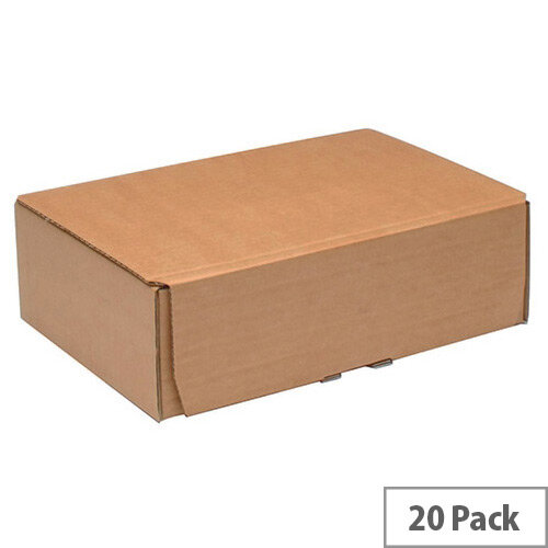 Fsmisc Mailing Boxes 245x150x33mm Brown Pack of 20