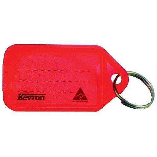 Kevron Plastic Clicktag Key Tag Red Pack of 100
