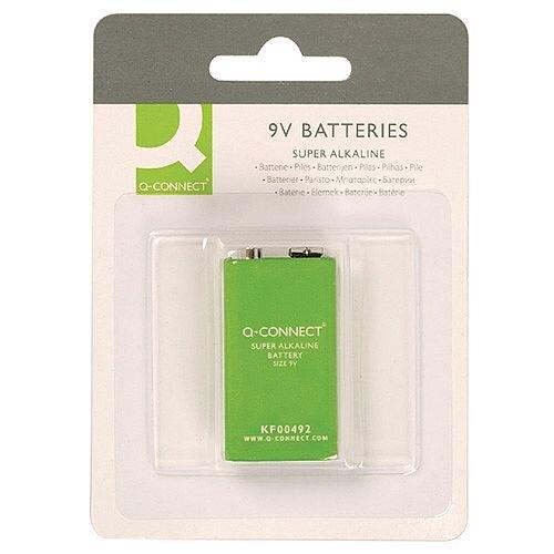 Q-Connect 9V Super Alkaline Battery Pack 1 KF00492