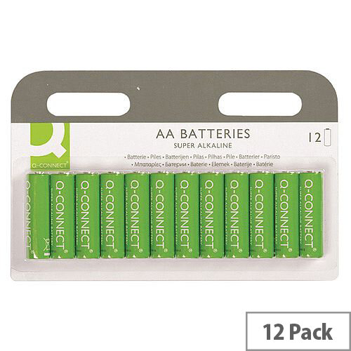 Q-Connect Super Alkaline AA Batteries Pack of 12