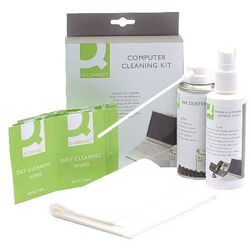 Q-Connect Computer Cleaning Kit For Screens Keyboards and Cases Set KF32155
