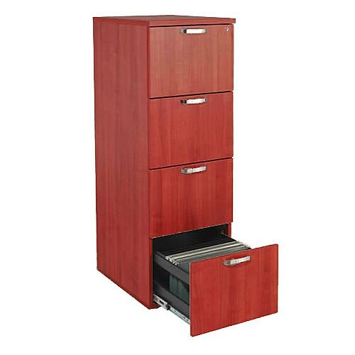 4-Drawer Wooden Filing Cabinet Cherry Avior