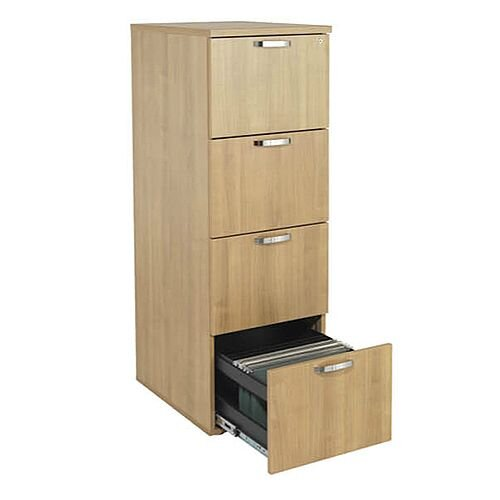 4-Drawer Wooden Filing Cabinet Ash Avior