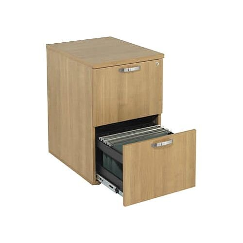 2-Drawer Wooden Filing Cabinet Ash Avior