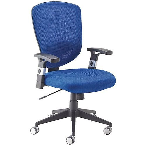 Arista Fusion High Back Mesh Office Chair With Lock and Tilt Blue