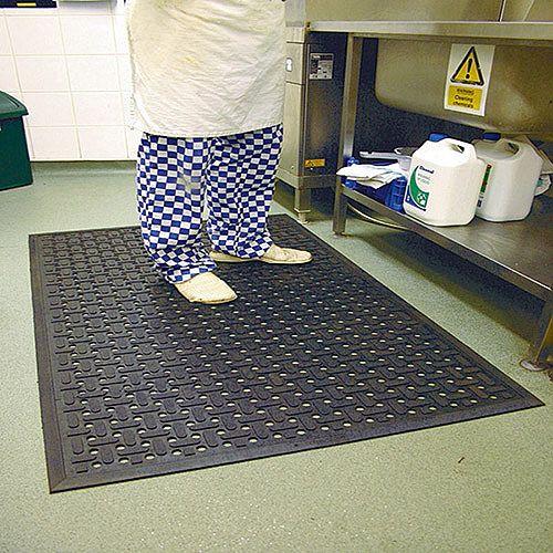 Kitchen Mat 850x1400mm Black 319138