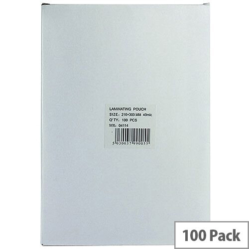 Laminating Pouch A4 Light Weight For Flexibility. 80 Microns &Supplied In Pack Of 100. Glossy Surface, Spill-Proof &A4 Size - Ideal For Important Documents, Posters, Notices &More.