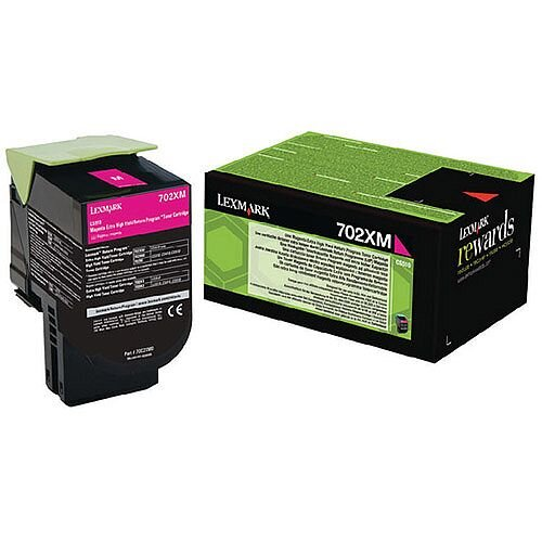 Lexmark Magenta Toner Cartridge Rp Extra High Yield 70C2XM0