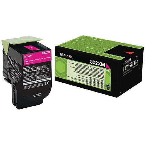Lexmark Magenta Toner Cartridge Rp Extra High Yield  80C2XM0