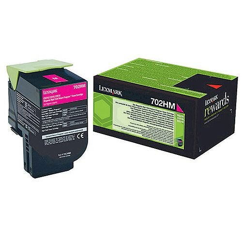 Lexmark Magenta Toner Cartridge  Rp High Yield 70C2HM0
