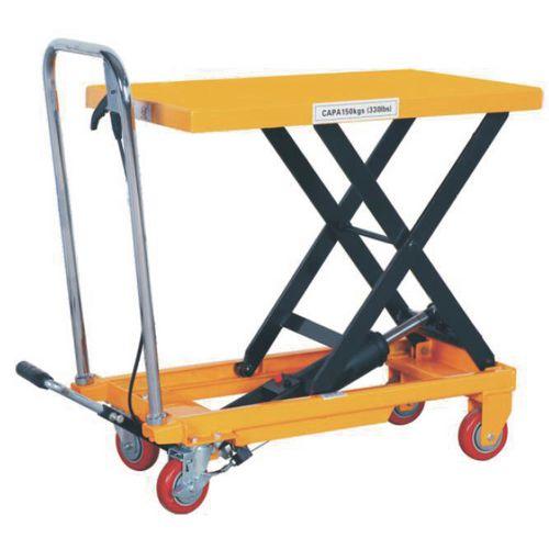 Premier Mobile Lift Table 770mm Platform Height 150kg Lifting Capacity 410157