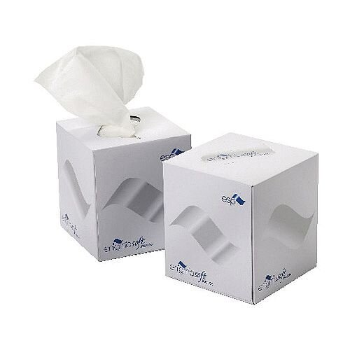 2Work Facial Tissues Cube Box 70 Sheet Box (Pack 24) KMAX10010