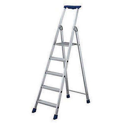7 Ribbed Tread Platform Step Ladder Aluminium Platform Height 1.59M Capacity 150Kg 358757