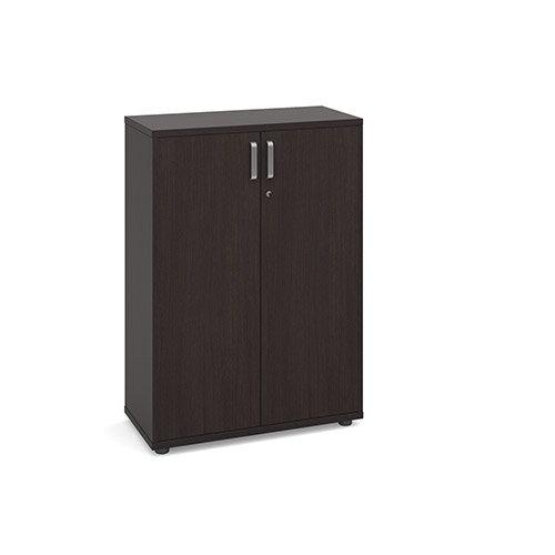 Magnum Low Cupboard with Adjustable Shelves and Lockable Doors H1130mm Dark Oak