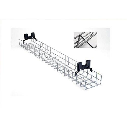 1.4m Nylon Coated Desk Cable Management Basket Tray NCDBT14