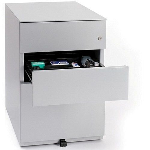 Bisley Note 3 Drawer Grey Desk Pedestal