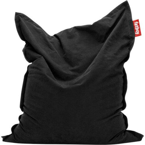 Large Stonewashed Bean Bag 180x140cm Black Suitable for Indoor Use - Fatboy The Original Bean Bag Range