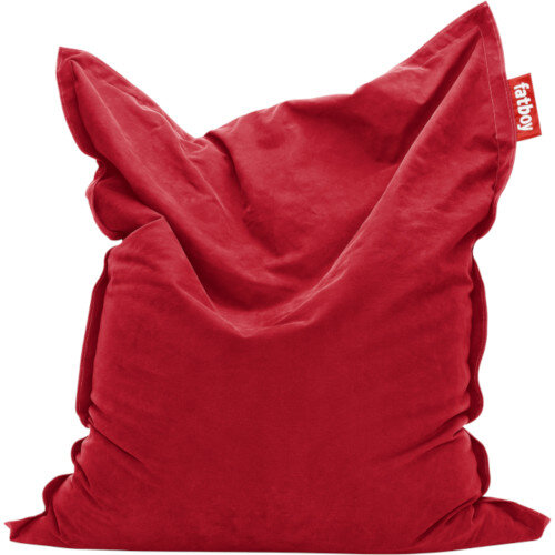 Large Stonewashed Bean Bag 180x140cm Red Suitable for Indoor Use - Fatboy The Original Bean Bag Range