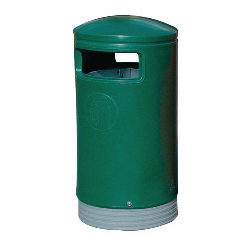 Outdoor Hooded Top Litter Bin 75 Litre Green 321771 124493