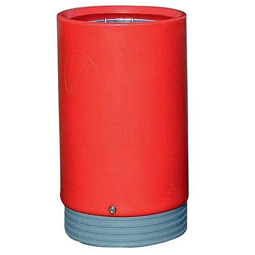 Outdoor Open Top Litter Bin 75 Litre Red 321778 124507