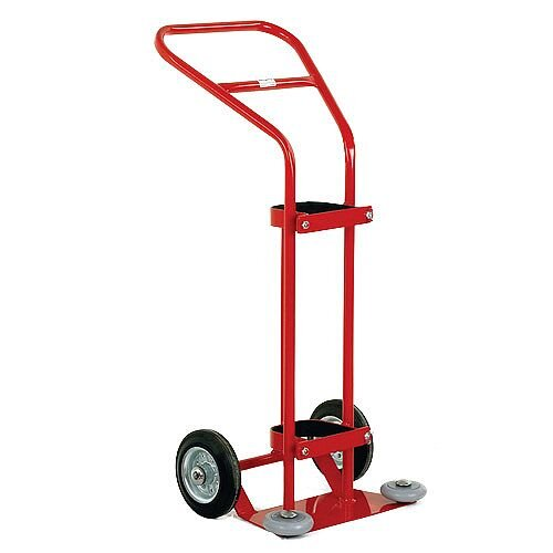 Oxygen Cylinder Red Trolley 1360 Litre With Rubber Wheels 320669