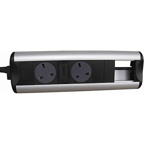 CR Ozone D2 Power Sockets 2 Data Outlets 50 x 25mm OZONE22
