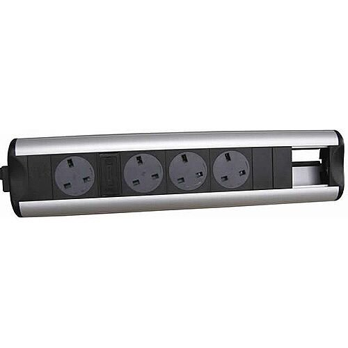 CR Ozone D4 Power Sockets 4 Data Outlets 50 x 25mm OZONE44