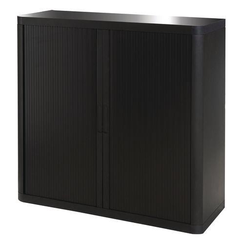 Paperflow Easy Office Cupboard 1 Metre Black/Black with 2 Shelves EE000006