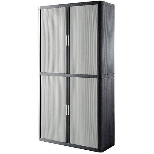 Paperflow Easy Office Cupboard 2 Metres Chrome/Grey with 4 Shelves EE000061