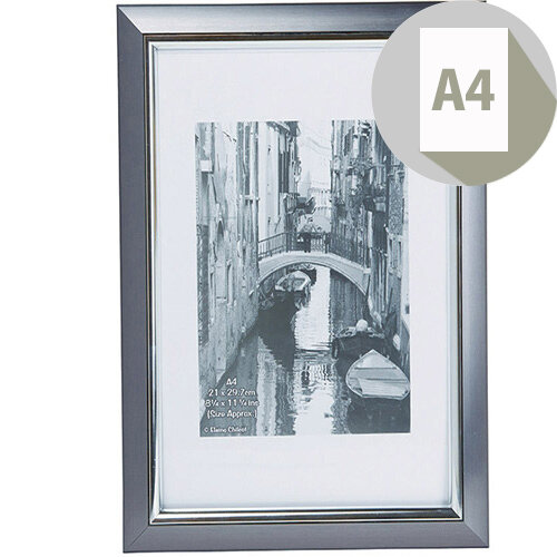Photo Album Company Premier Certificate Frame A4 Smoke with Silver Inlay PELA4SMK-NG