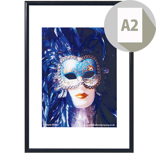 Photoalb A2 Aluminium Non Glass Frame Black Pk1