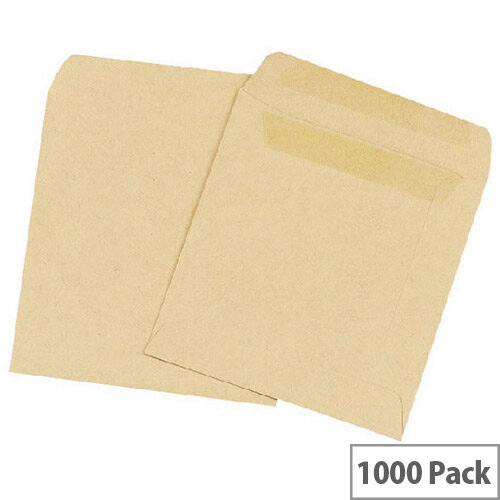 Q Connect Wage Envelope 108x102mm Plain Manilla Self-Seal Pack of 1000 KF3420