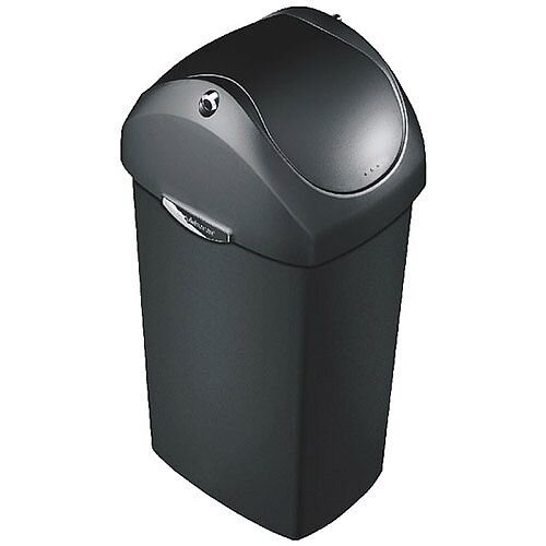 Black Plastic Swing Bin 40 Litre (Pack of 1) 376201