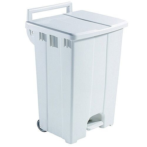 Plastic Pedal Bin with Lid 90 Litre Grey 357001