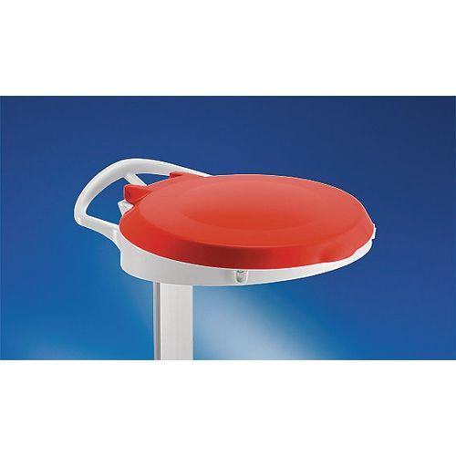 Plastic Round Lid For Smile Sackholder Red 348032