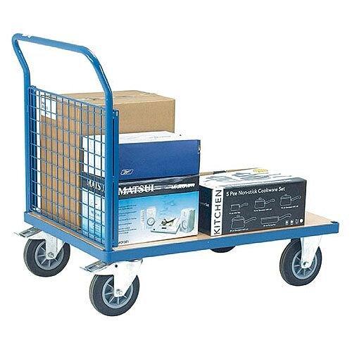 VFM Blue Premier Platform Truck Single Mesh 1000 x 700mm 315623 500kg Capacity