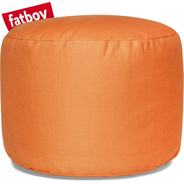 The Point Stonewashed Bean Bag 35x50 Orange Suitable for Indoor Use - Fatboy The Original Bean Bag Range
