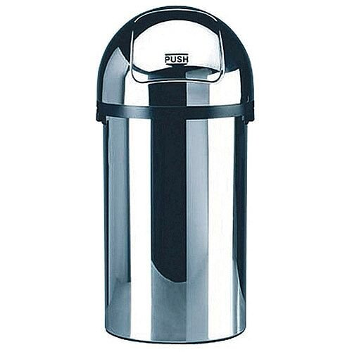 Push Bin 50 Litre Chrome 311733