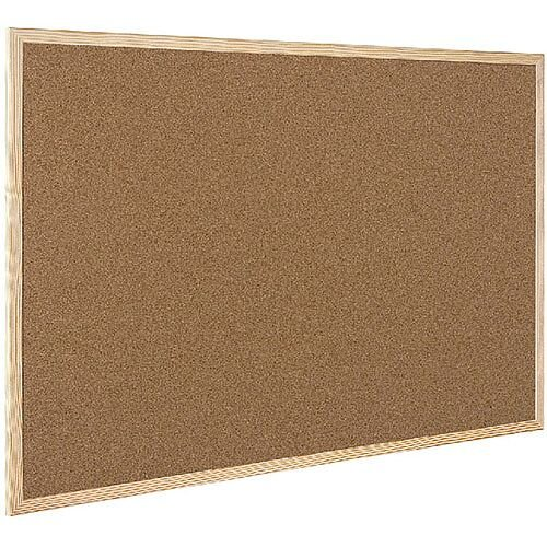 Q-Connect Cork Board Wooden Frame 900 x 600mm KF03567