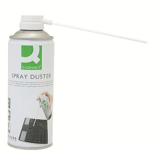Q-Connect HFC-Free Computer Air Duster 400ml - Perfect for keyboards, cameras and difficult to reach areas -Ozone friendly pressure duster