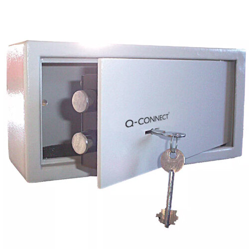 Q-Connect Key-Operated Safe 6 Litre Cream 150x200x200mm