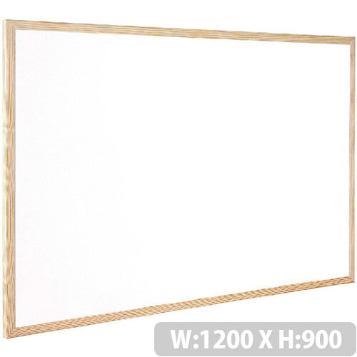 Q-Connect Whiteboard Wooden Frame 1200x900mm – White Surface, Wall-Mountable, Home Or Office, Easily Cleaned, No Scratch Or Blemish, Durable &Non-Magnetic (KF03572)