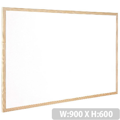 Q-Connect Whiteboard Wooden Frame 900x600mm – White Surface, Wall-Mountable, Home Or Office, Easily Cleaned, No Scratch Or Blemish, Durable &Non-Magnetic (KF03571)