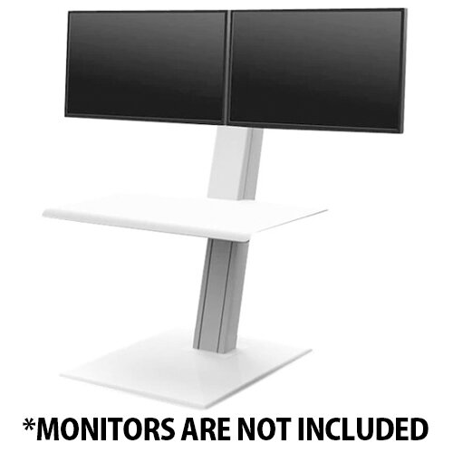 Humanscale QuickStand ECO Height-Adjustable Sitting/Standing Dual Monitor Workstation White QSEWD