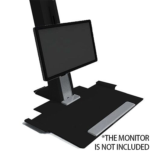 Humanscale QuickStand Height-Adjustable Sitting/Standing Workstation Large Platform Black QSBL30